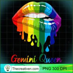 Womens Gemini Queen Lipsticks Rainbow Costume Girl PNG, Afro Women PNG, Gemini Queen PNG, Black Women PNG