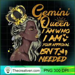 Womens Gemini Queen Zodiac Black Women Girl PNG, Afro Women PNG, Gemini Queen PNG, Black Women PNG