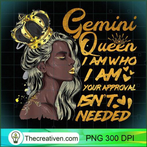 Womens Gemini Queen Birthday Zodiac Gift Black Women Gift Gi T Shirt copy