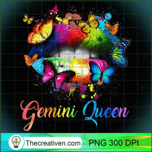 Womens Gemini Queens Lips Hippie Birthday Gift For Women Girls Premium T Shirt copy