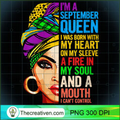 Womens For Virgo and Libra Women Im a September Queen PNG, Afro Women PNG, Libra Queen PNG, Black Women PNG