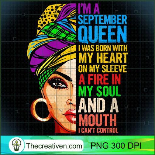 Womens Gift For Virgo and Libra Women Im a September Queen V Neck T Shirt copy
