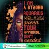 Womens I Am Strong Aquarius Melanin Queen Cute Birthday Womens T Shirt copy