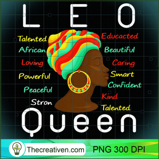 Womens Leo Queen Afro Horoscope July 23 August 22 V Neck T Shirt copy