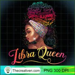 Womens Libra Queen Afro Women September October Melanin PNG, Afro Women PNG, Libra Queen PNG, Black Women PNG