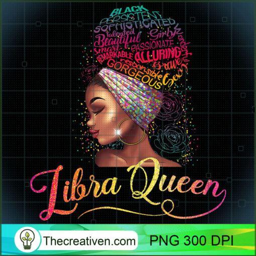Womens Libra Queen Afro Women September October Melanin Birthday T Shirt copy