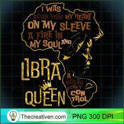 Womens Libra Queen Zodiac Costume Black Women Girl PNG, Afro Women PNG, Libra Queen PNG, Black Women PNG