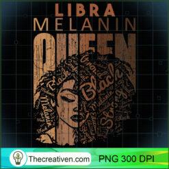 Womens Libra Queen Melanin Strong Horoscope Zodiac Afro Woman PNG, Afro Women PNG, Libra Queen PNG, Black Women PNG