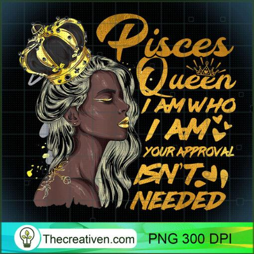 Womens Pisces Queen Birthday Zodiac Gift Black Women Gift Gi T Shirt copy