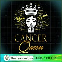 Womens Praying Cancer Queen Black Lives Matter Zodiac Girl PNG, Afro Women PNG, Cancer Queen PNG, Black Women PNG