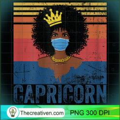 Womens Vintage Capricorn Queen Costume Black Woman PNG, Afro Women PNG, Capricorn Queen PNG, Black Women PNG