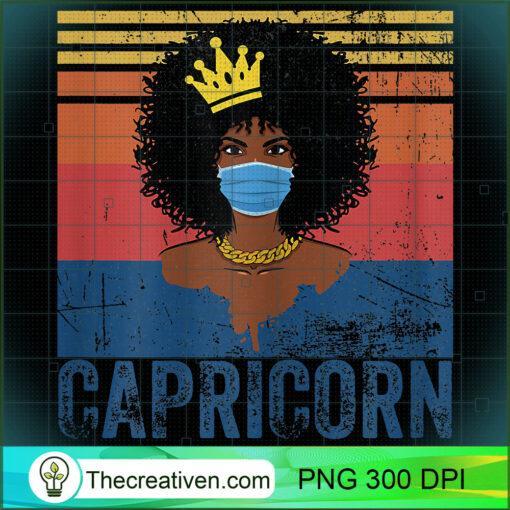 Womens Th Vintage Capricorn Birthday Queen Costume Black Woman T Shirt copy