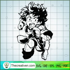 Izuku Midoriya My Hero Academy  SVG, My Hero Academy SVG, Anime SVG