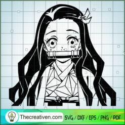 Kamado Nezuko Kimetsu no Yaiba  SVG, Kamado Nezuko SVG, Anime SVG