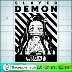 Slayer Demon Nezuko Kimetsu no Yaiba SVG, Slayer Demon SVG, Anime SVG