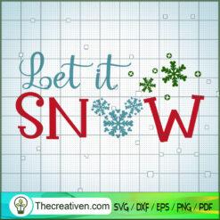 Let It Snow Disney SVG, Disney Christmas SVG, Mickey And Minnie SVG
