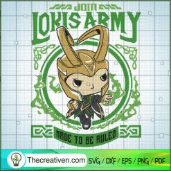 Cute Loki Army SVG, Loki SVG, Marvel SVG, God SVG