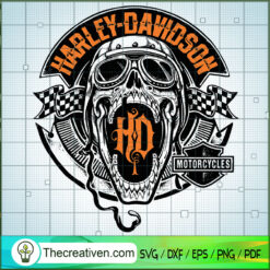 Harley-Davidson Skull Logo SVG, Harley Davidson SVG, Legendary Motorcyles SVG