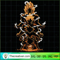 Goku Level Up SVG, Goku SVG, Dragon Ball Z SVG