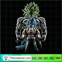Double Goku Super Saiyan SVG, Goku SVG, Dragon Ball Z SVG