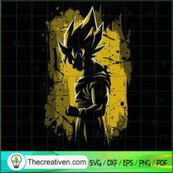 Goku Beauty Art SVG, Goku SVG, Dragon Ball Z SVG
