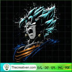 Songota Angry Super Saiyan Blue Dragon Ball SVG, Dragon Ball SVG, Goku SVG