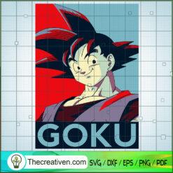 Goku Smile Dragon Ball Super SVG, Dragon Ball SVG, Goku SVG