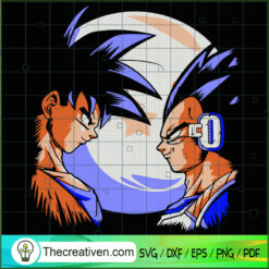 Goku vs Vegeta SVG, Goku SVG, Dragon Ball Z SVG