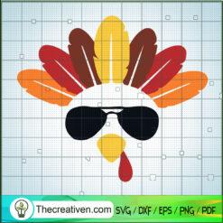 Coolest Turkey SVG, Turkey SVG, Thanksgiving SVG