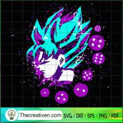 Goku Head And Dragon Ball SVG, Goku SVG, Dragon Ball Z SVG