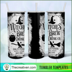 Witches Brew Drink Co Skinny 20oz, Naruto 20oz Skinny Straight, Full Tumbler Wrap, PNG Digital File