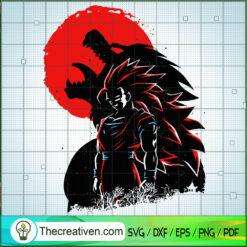 Super Saiyan 3 and Great Ape SVG, Dragon Ball SVG, Goku SVG