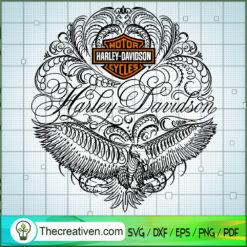 Pattern Logo Harley-Davidson SVG, Harley Davidson SVG, Legendary Motorcyles SVG