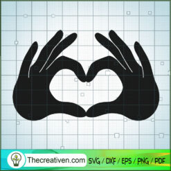 Hand Heart SVG Free, Hand SVG Free, Free SVG For Cricut Silhouette