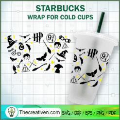Harry Potter Starbucks Cup SVG, Starbucks Cold Cup Full Wrap SVG