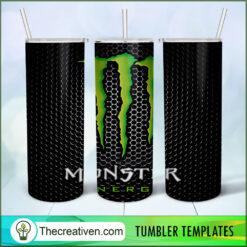 Monster Metal Skinny, 20oz Skinny Straight, Full Tumbler Wrap, PNG Digital File