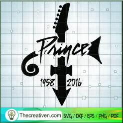 Prince Purple Rain 1958-2016 SVG, Purple Rain SVG, Prince Rogers Nelson SVG
