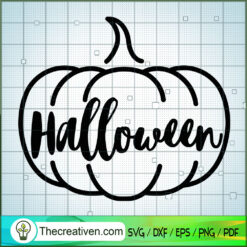 Pumpkin Halloween SVG Free, Draw Outline SVG Free, Free SVG For Cricut Silhouette