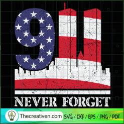 9.11.01 Never Forget SVG, September 11th Patriot Day SVG, American Flag Never Forget 9-11 SVG