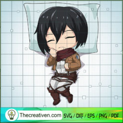 Mikasa SVG, Attack On Titan SVG, Anime SVG