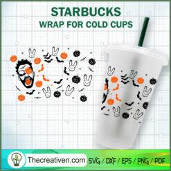 Bad Bunny Halloween Starbucks Cup SVG, Starbucks Cold Cup Full Wrap SVG