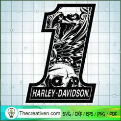 Harley Davidson Number One SVG, Harley Davidson SVG, Legendary Motorcyles SVG