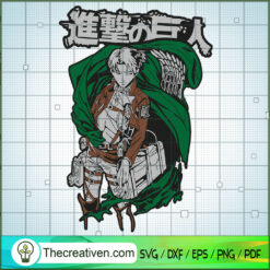 Levi Wings Of Freedom SVG, Attack On Titan SVG, Anime Cartoon SVG