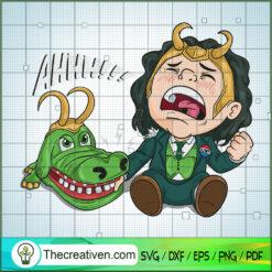 Loki Crocodile Head SVG, Loki SVG, Marvel SVG, God SVG