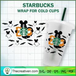 Black Mickey Head Starbucks Cup SVG, Starbucks Cold Cup Full Wrap SVG