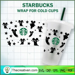 Boo Halloween Starbucks Cup SVG, Starbucks Cold Cup Full Wrap SVG