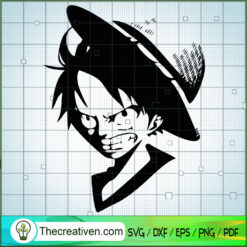 Angry Face Luffy SVG, One Piece SVG, Anime Cartoon SVG