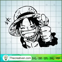 Luffy Super Like SVG, One Piece SVG, Anime Cartoon SVG