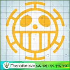 Yellow Logo SVG, One Piece SVG, Anime Cartoon SVG