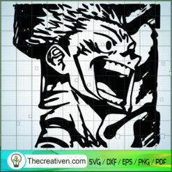 Yuji Itadori Angry SVG, Jujutsu Kaisen SVG , Anime SVG